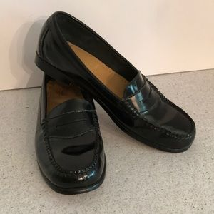 Black Bass Weejuns Loafers Leather Shoes size 8.5M